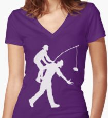 Zombie Ride Women's Fitted V-Neck T-Shirt