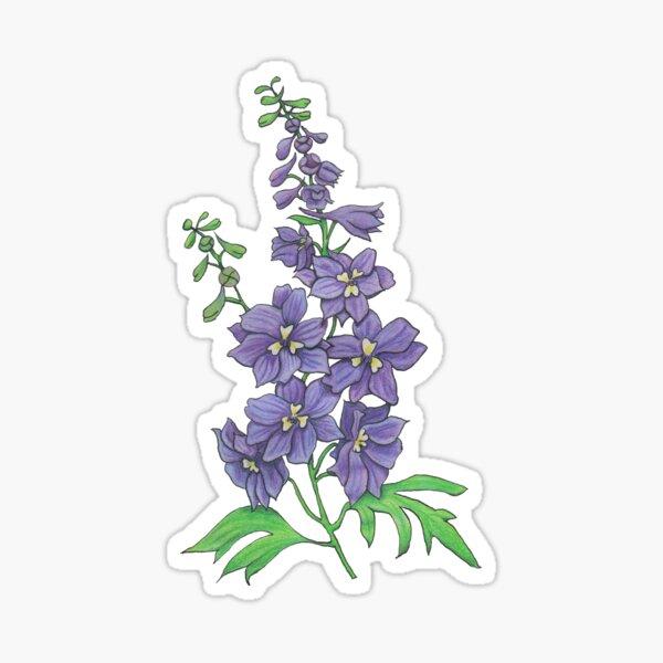 Delphinium elatum Sticker