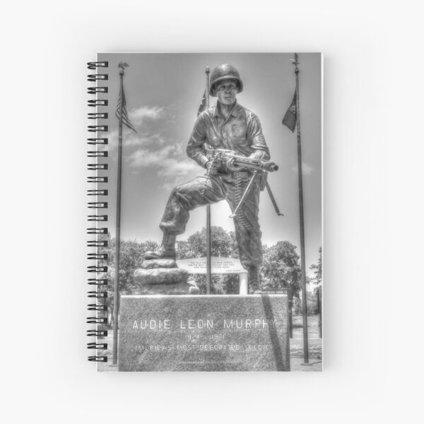 Audie Murphy - War Hero b/w Spiral Notebook