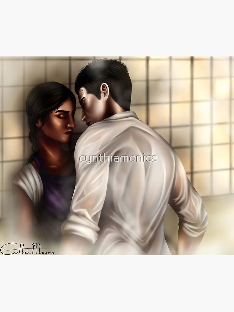 Inej and Kaz by cynthiamonica