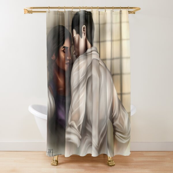 Inej and Kaz Shower Curtain