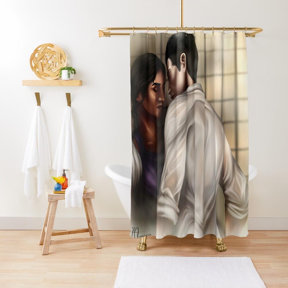Inej and Kaz Shower Curtain