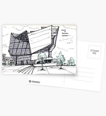 Architecture Sketch – UFA Cinema in Dresden, Germany Postcards