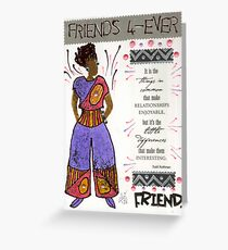 Friends 4-EVER Greeting Card