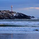 Cape Forchu Lighthouse in a Blue Mood 2 by Debbie  Roberts
