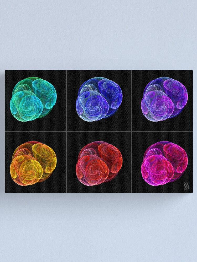 Alternate view of Flame Fractals Canvas Print