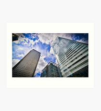 Canary Wharf And It's Competiton Art Print