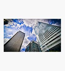 Canary Wharf And It's Competiton Photographic Print