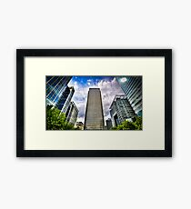 Canary Wharf Standing Head and Shoulders Framed Print