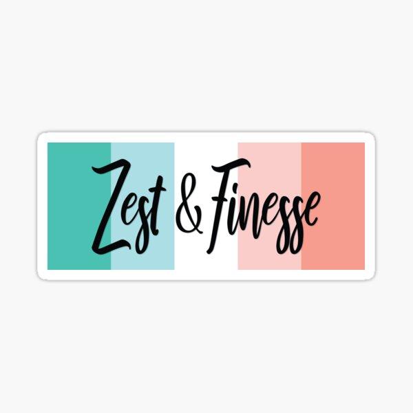 Zest & Finesse Sticker