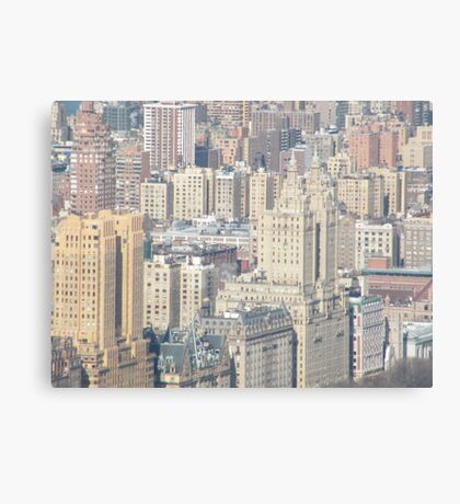 Aerial View of Upper West Side of Manhattan Canvas Print