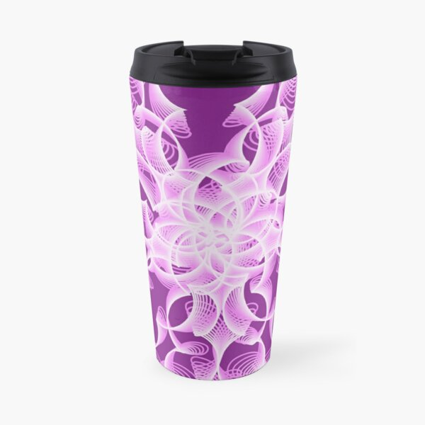 Delicate Abstract Flower in Lilac Travel Mug