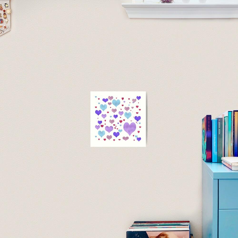 Just Love Hearts Art Print