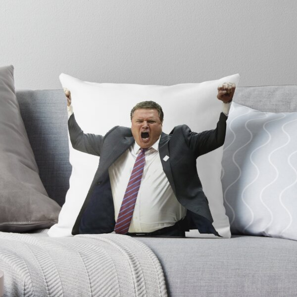 Bill Self Celebration Throw Pillow