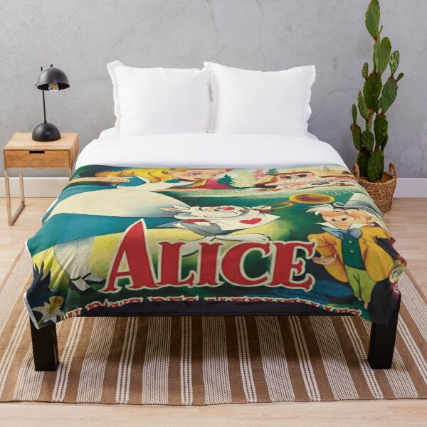 Poster Vintage Alice Throw Blanket
