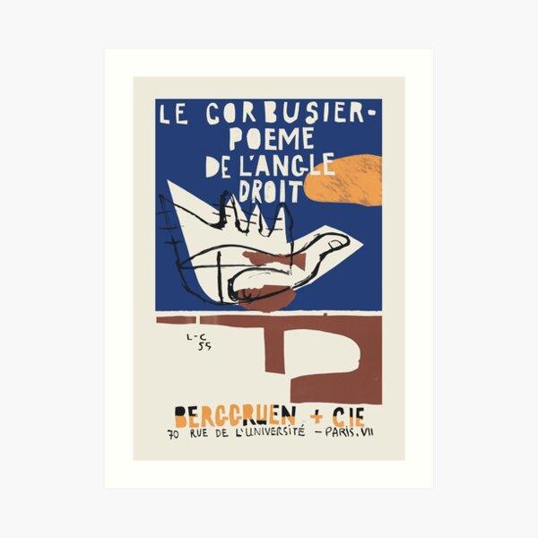 Le Corbusier - Exhibition poster for Poeme de L'Angle Droit 1995 in Paris Art Print