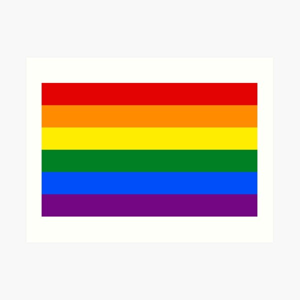 Rainbow Flag Gifts & Products Art Print