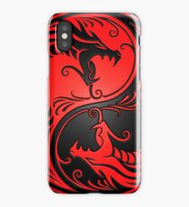 Yin Yang Dragons Red and Black iPhone Case/Skin