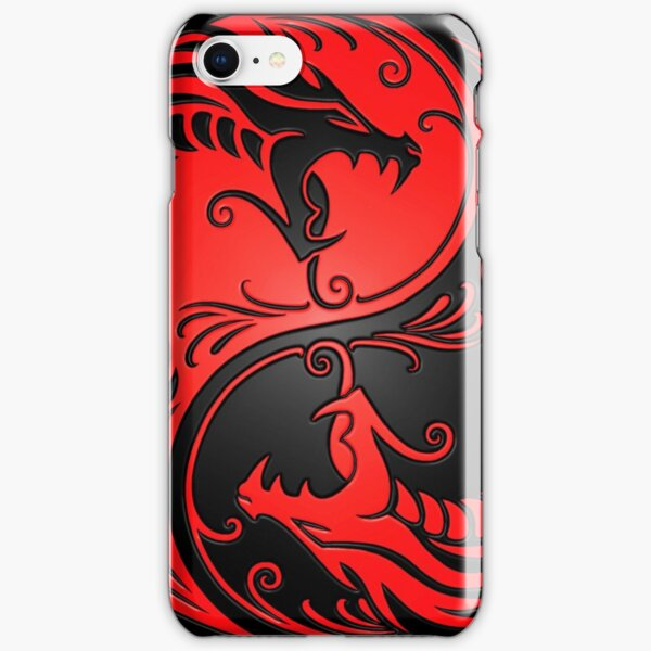 Yin Yang Dragons Red and Black iPhone Snap Case