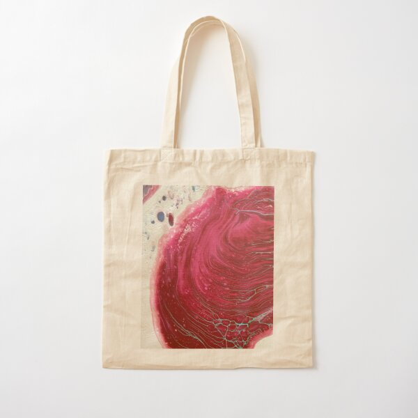 Maroon with Blue veins Cotton Tote Bag