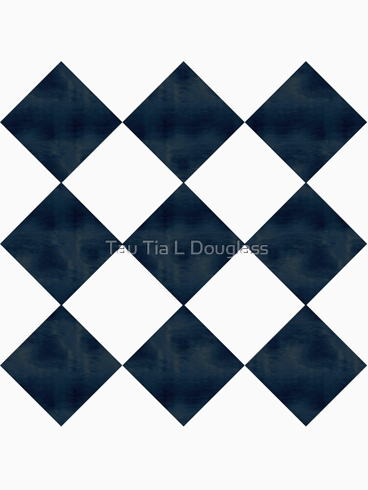 Aged Black And White Diagonal Checks by PurplePeacock