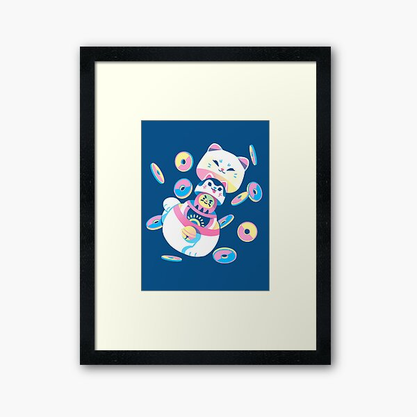Matryoshka Maneki Neko Framed Art Print