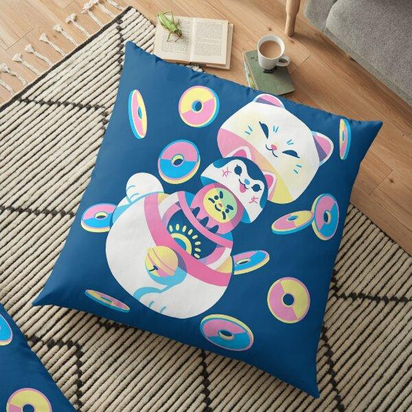 Matryoshka Maneki Neko Floor Pillow