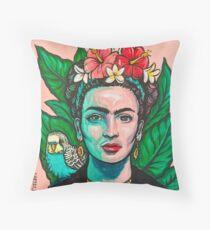 Pink Frida Kahlo Throw Pillow