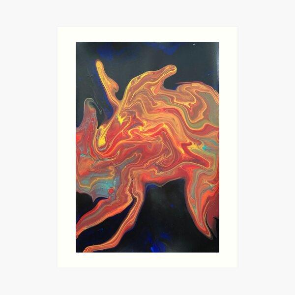 Abstract Fire Fairy  Art Print