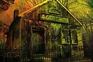 Spooky Grist Mill in Oil by Debbie Robbins