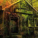 Spooky Grist Mill in Oil by Debbie Robbins