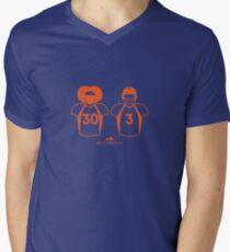 303 (Solid Orange) V-Neck T-Shirt