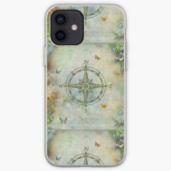 Vintage Butterfly Compass iPhone Soft Case