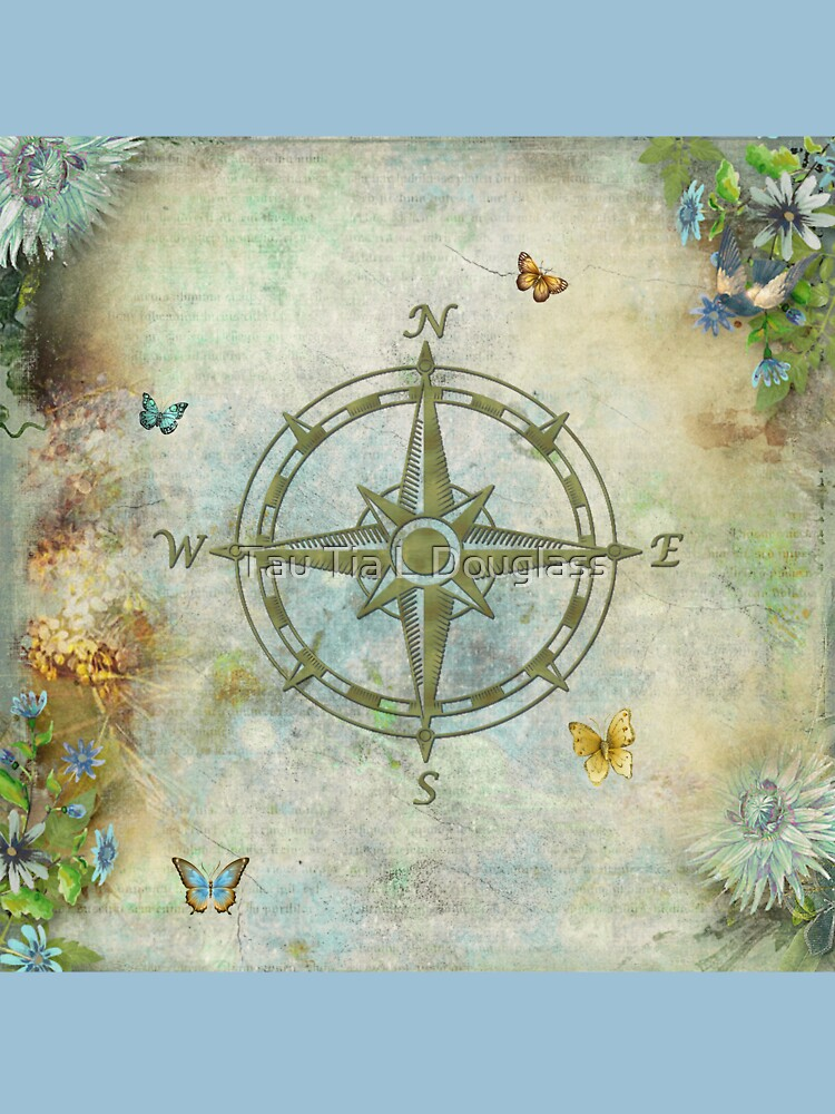 Vintage Butterfly Compass by PurplePeacock