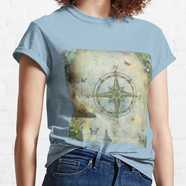 Vintage Butterfly Compass Classic T-Shirt