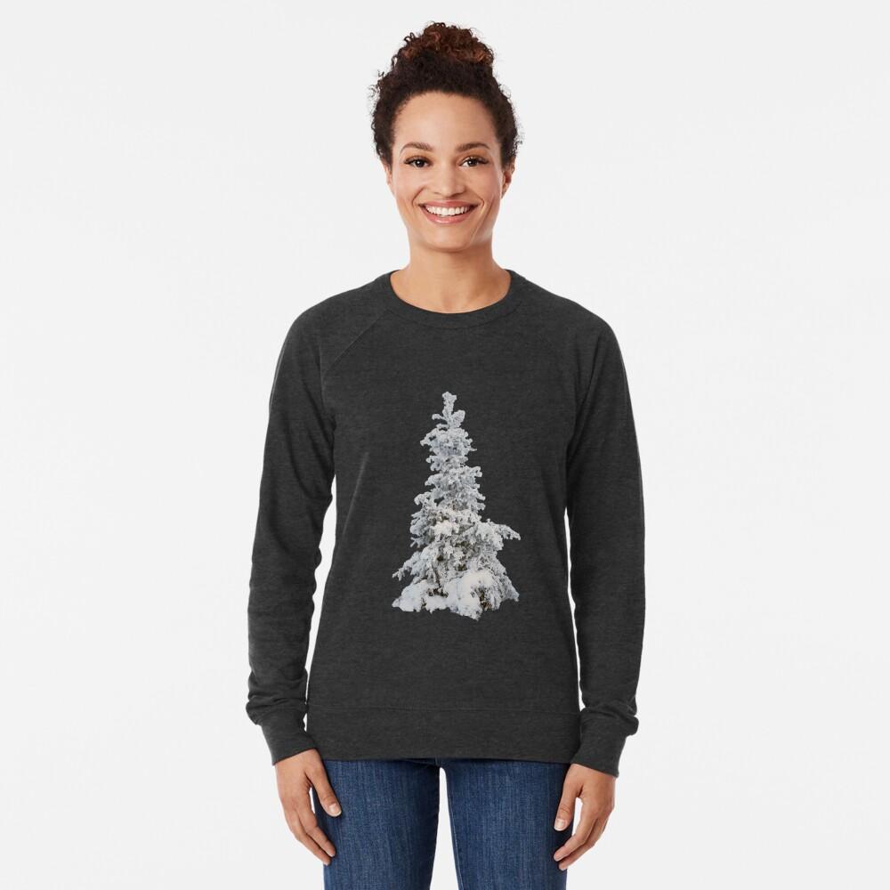 Frosty Tree on a Foggy Winter Day Lightweight Sweatshirt