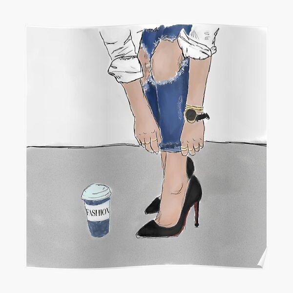 Jeans et talons en détresse Poster