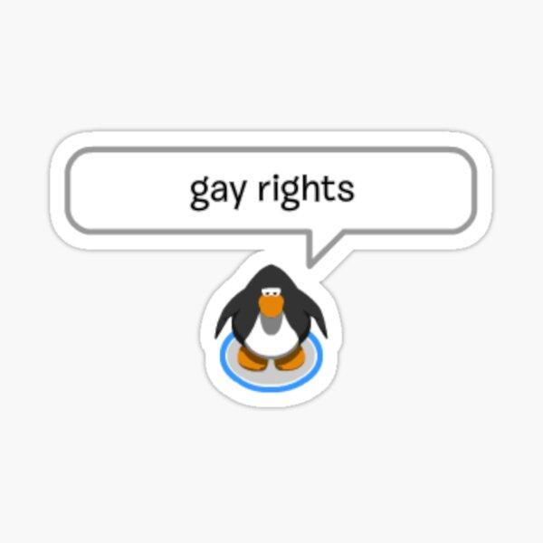 gay rights penguin Sticker