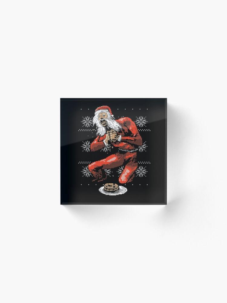 Alternate view of Santa Devouring His Cookies Acrylic Block