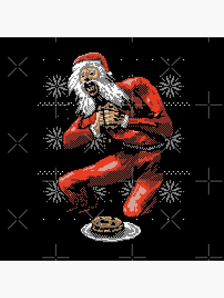 Santa Devouring His Cookies by wytrab8