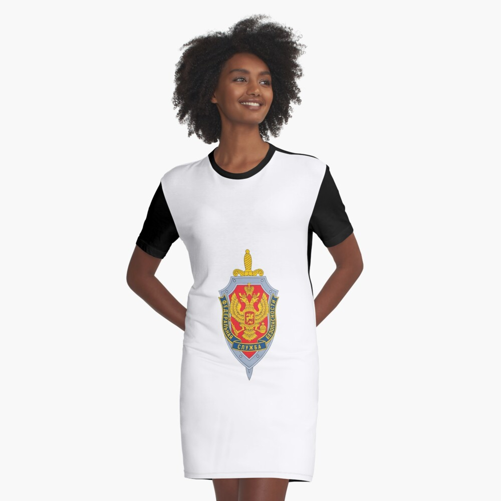 Emblem of the Russian Federal Security Service Graphic T-Shirt Dress