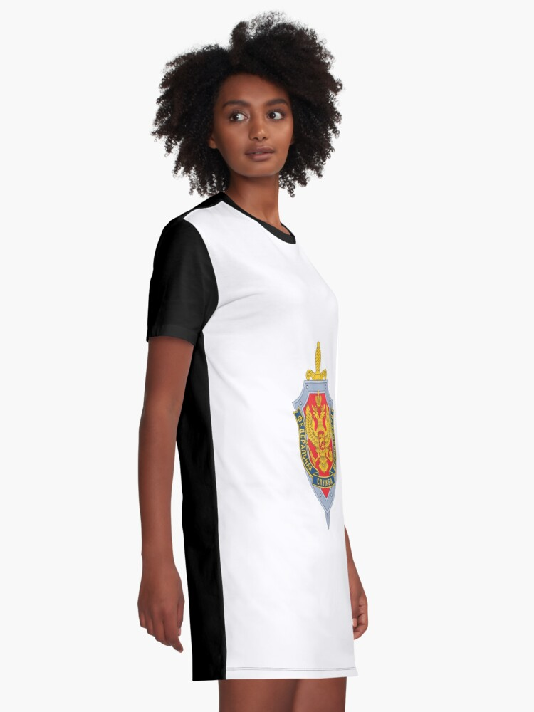 Alternate view of Emblem of the Russian Federal Security Service Graphic T-Shirt Dress