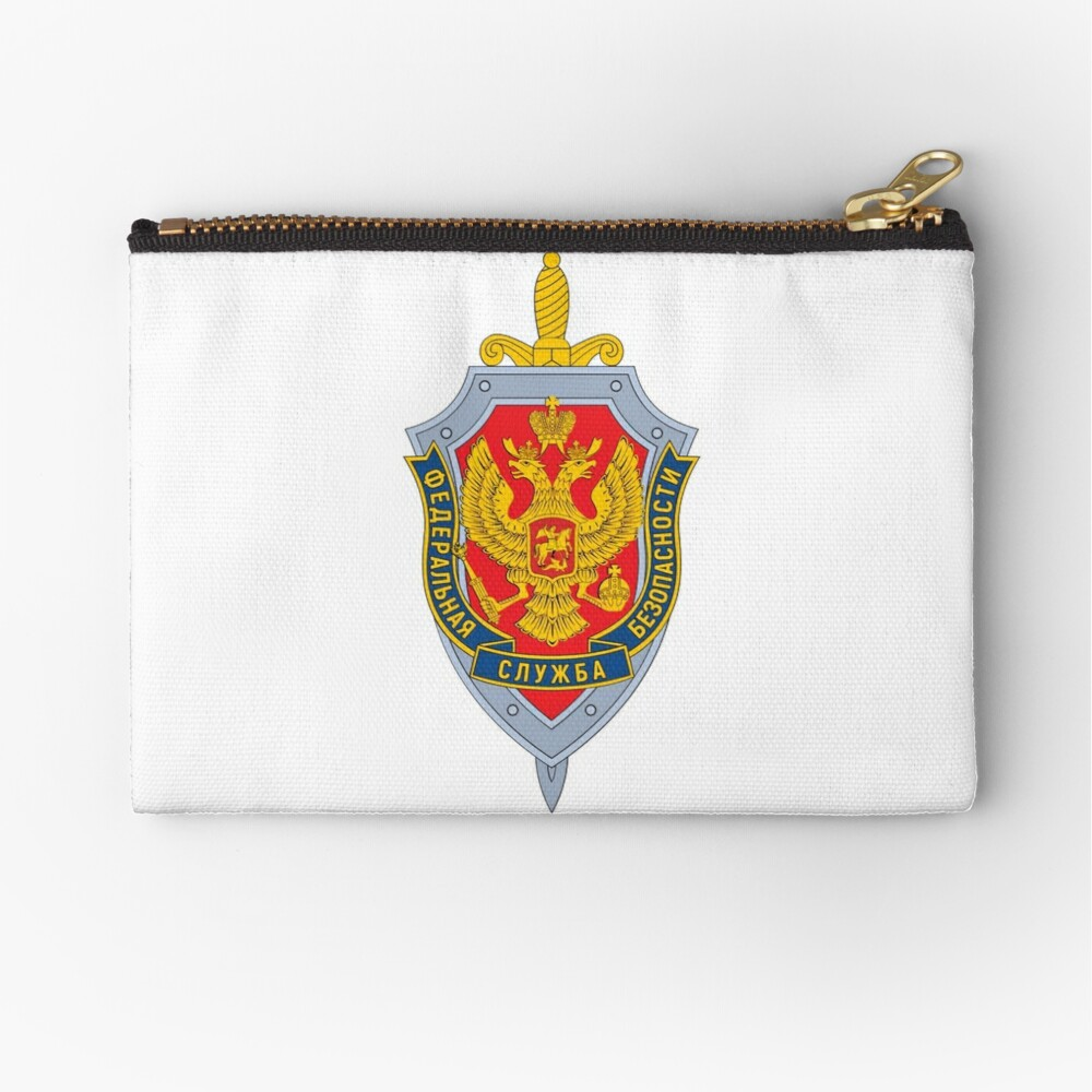 Emblem of the Russian Federal Security Service Zipper Pouch