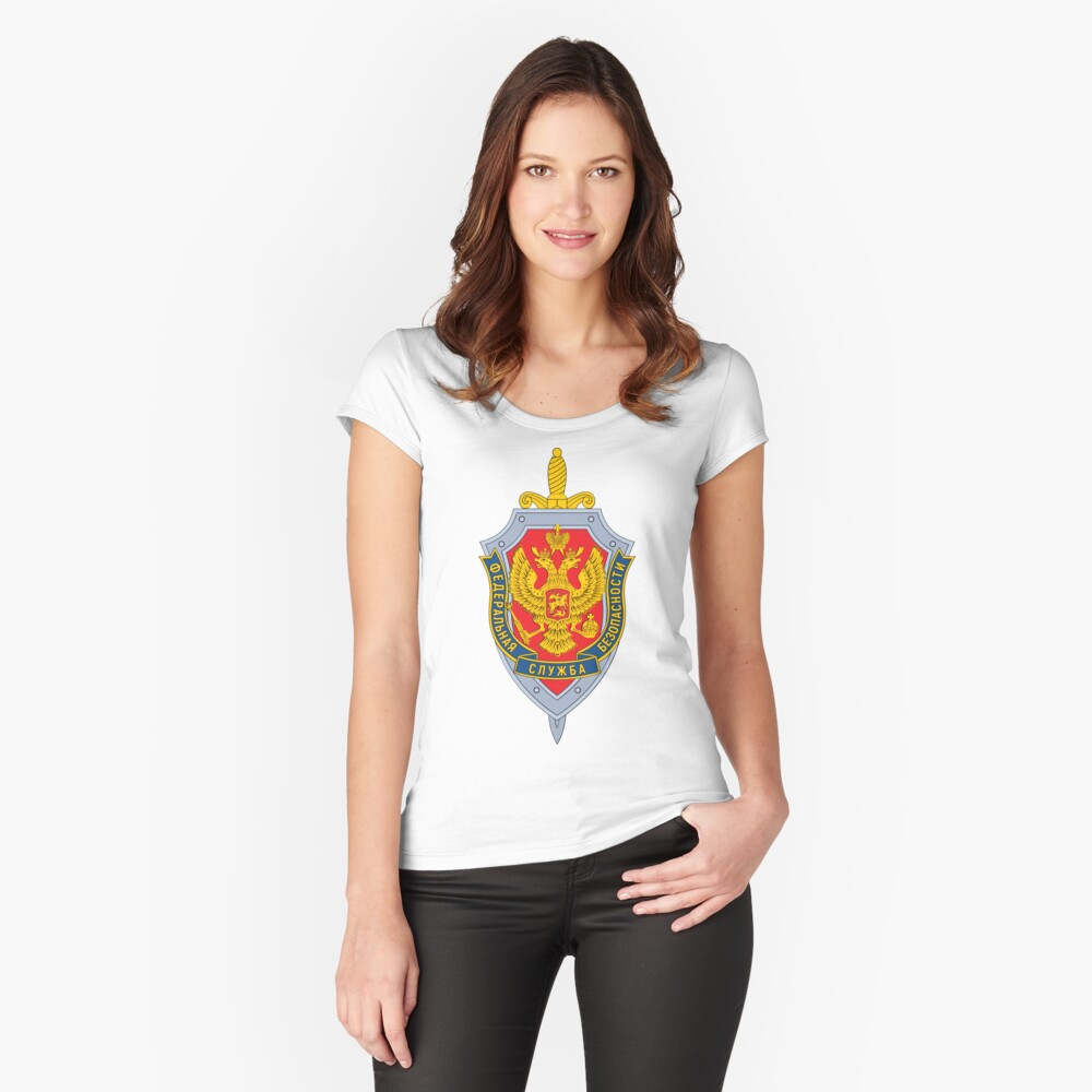 Emblem of the Russian Federal Security Service Fitted Scoop T-Shirt