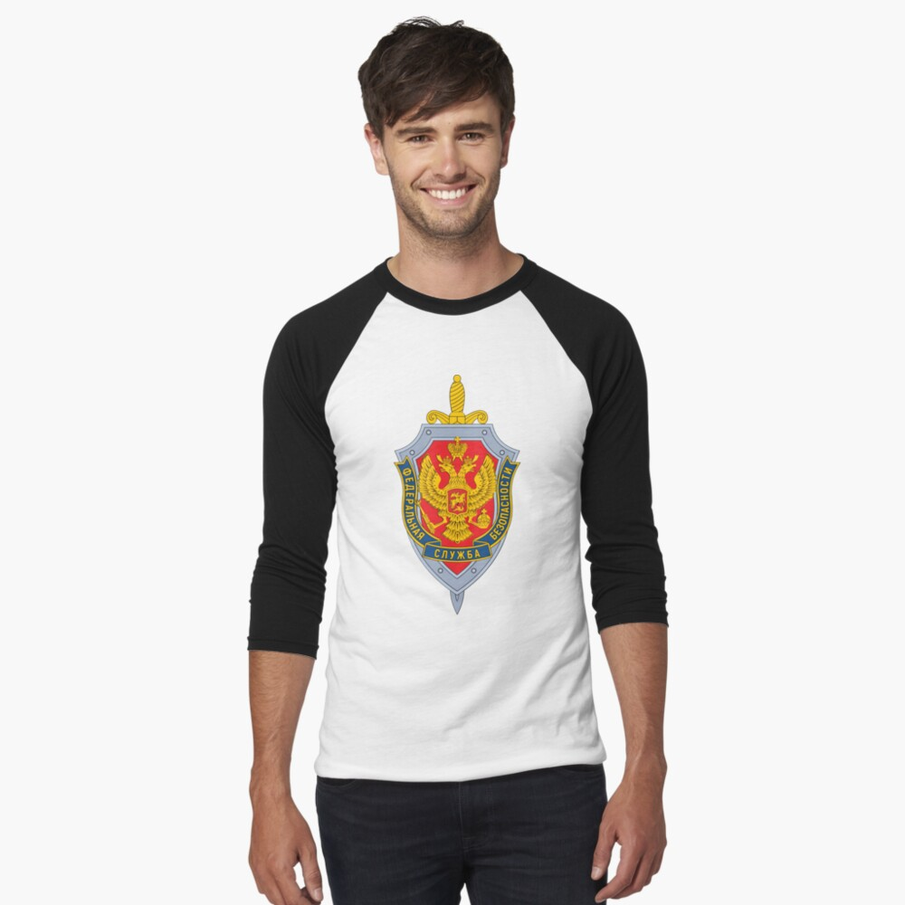 Emblem of the Russian Federal Security Service Baseball ¾ Sleeve T-Shirt