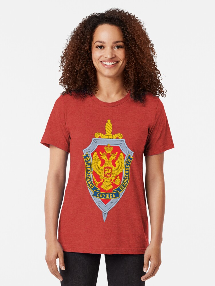 Alternate view of Emblem of the Russian Federal Security Service Tri-blend T-Shirt