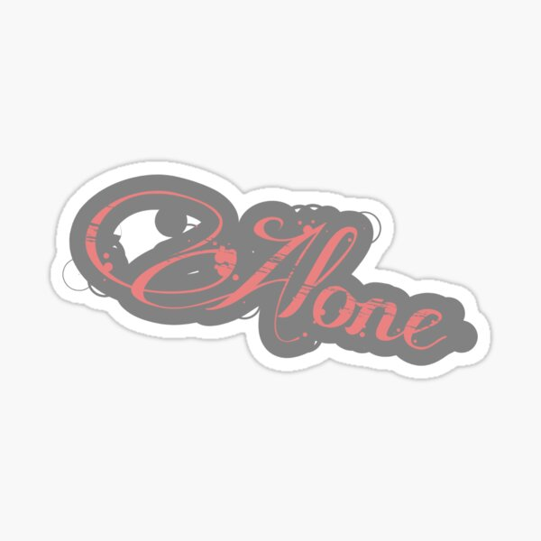 Alone things Sticker