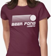 Beer Pong Legend Vintage Shirt Women's Fitted T-Shirt
