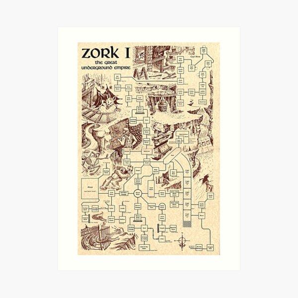 Zork Map Art Print