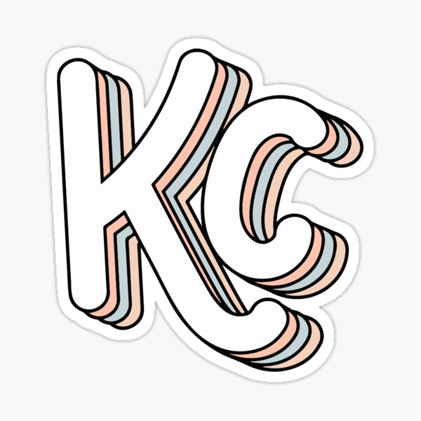 Retro KC (Beachy) Sticker